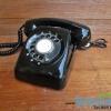 โทรศัพท์แบบหมุนสีดำ
