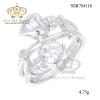 แหวนเพชรcz ประดับเพชร CZ แหวนหัวใจทรงไขว้ สไตล์ เรียบหรู แนวคลาสิค ใส่แล้วสวยเริ้ดเลยสวยมากเกินคำบรรยาย ดีไซน์มีเอกลักษณ์มาก