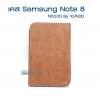 เคสหนัง samsung galaxy Note 8 สีน้ำตาล (N5100) by XUNDD