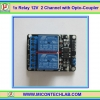 1x Relay 2 channel DC 12V 10A 250VAC module with optocoupler