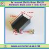 1x Heatsink 25x15x10 mm TO-220 Aluminium Black Color + 1x M3 Screw