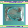 Jumper (F2F) cable 20 cm 10pcs Green color (Female to Female)