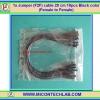 1x Jumper (F2F) cable 20 cm 10pcs Black color (Female to Female)