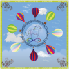 ผ้าพันคอลาย Balloon 3D