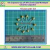 10x Capacitor 22 pF 50V (Code 220) Multilayer Ceramic Capacitor