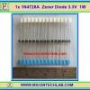 1x 1N4728A Zener Diode 3.3V 1W 1N4728 ซีเนอร์ไดโอด