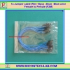 1x Jumper (F2M) cable 20 cm 10pcs Blue color (Female to Male)