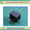 1x Relay 12 Vdc Rating 10A 250VAC Form 1C HLS8L-DC12V
