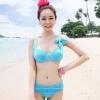 พร้อมส่ง / ชุดว่ายน้ำ นำเข้าสไตล์เกาหลี มีสีฟ้า Size : M