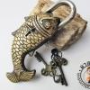 กุญแจโบราณรูปปลาทอง