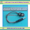 1x DC Jack 2.1mm with 9V Battery Connector