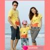 เสื้อครอบครัว ชุดครอบครัว พ่อ แม่ ลูก ลายหมี Pooh แสนซน