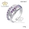 แหวนเพชรcz ประดับเพชร CZ แหวนผูกไขว้ ดีไซน์สวยหรูดูแพง งานเวอร์วังอลังการ เพิ่มความโดดเด่นให้กับเรียวนิ้ว