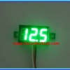 1x Mini Digital DC Voltmeter module 0-100 Vdc GREEN LED 7's Segment