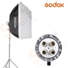 Godox 4 E27 Holder Bulb with Softbox 60x60cm