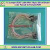 1x Jumper (F2F) cable Wire 10pcs 20cm Brown color Female to Female (F2F)