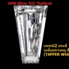 เพชรCZ ทรงสี่เหลี่ยมคางหมู สีขาว (TAPPER White) - Size 3x1.5x1mm - 1แพ็ค - 200เม็ด