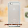 Case iPhone 4/4s iPhone 5 iPhone6/6plus ขอบสีฟ้า ด้านหลังสีขุ่น