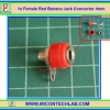 1x Female Red Color 4 mm Banana Jack Connector