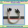 1x Jumper (F2M) cable 20 cm 10pcs White color (Female to Male)