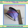 1x Cable Wire AWG#26 Length 30 meters (100ft) Purple color