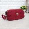กระเป๋าคล้องมือ Lingky ผ้าทอ สีแดงล้วน