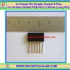 1x Female Pin Header Socket 6 Pins for Arduino Shield PCB Pitch 2.54mm (Long Pin)