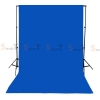 Background Blue Backdrop 3.2x6m. Cotton for Chromakey