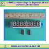 1x MAX7219 with 8 Digit 7's Segment 0.36 inch Common Cathode module