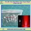 10x LED 5mm Red Water Clear Super Bright (10pcs per lot)