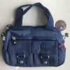 กระเป๋าเนื้อ kipling + สะพาย ใบเล็ก สีกรม