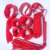 พร้อมส่ง / อุปกรณ์เสริมพิเศษ โซ่ แส้ กุญแจมือ สายรัดเอว พร้อมกุญแจ สีแดง อุปกรณ์มีตามรูปเลยค่ะ