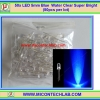 50x LED 5mm Blue Water Clear Super Bright (50pcs per lot)