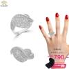 แหวนเพชร ประดับ เพชรCZ แหวนทรงหัวใจ ก้านแหวนบิดเล็กน้อย ฝังเพชรแวววาวและดูหรูหรา สวยระยิบระยับ เหมาะกับทุกไลฟ์สไตล์ของสาวๆทุกช่วงวัย