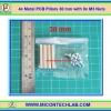 4x Metal PCB Pillars 30 mm with 8x M3 Nuts (เสารองแผ่นพีซีบีโลหะแบบเหลี่ยมพร้อมน็อตยึด)