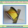 1x สายไฟเบอร์ AWG#26 สีเหลือง ยาว 1 เมตร (Cable)(M)