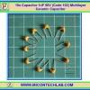10x Capacitor 1nF 50V (Code 102) Multilayer Ceramic Capacitor