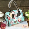 กระเป๋า Chalita wu + สายสะพาย สีฟ้า ลายนกฮูก