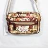 กระเป๋าสะพาย Chalita wu ใบเล็ก สีครีม ลายวินเทจ