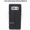 Case Samsung Note 8 สี ดำ ลายหนัง