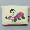 ROSE AURORE CANVAS POUCH MINI