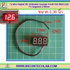1x Mini Digital DC Voltmeter module 4.5-30 Vdc RED LED 7's Segment 2 Wires