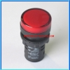 1x Red LED AC/DC 12V Size 22 mm Light Indicator Signal Lamp