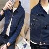 PRE-ORDER เสื้อแจ็คเก็ตแฟชั่นแบบใหม่ แจ็คเก็ตยีนส์ยืด แขนยาวกระดุมหน้า ออกแบบเรียบง่ายแนวอินดี้