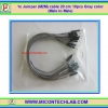 1x Jumper (M2M) cable 20 cm 10pcs Gray color (Male to Male)