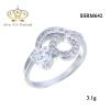 แหวนเงินแท้ ประดับ เพชรCZ แหวนเพชรทรงกลม ดีไซน์เก๋สวยหรู เปล่งประกายเจิดจรัส แวววับงามจับใจ
