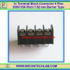 1x Terminal Block Connector 4 Pins Pitch 7.62 mm Barrier Type 300V/15A