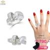 แหวนเพชร ประดับ เพชรCZ แหวนดีไซน์เก๋แปลกตา แหวนดูเลอค่า คลาสสิกสไตล์ เหมาะกับทุกไลฟ์สไตล์ของสาวๆทุกช่วงวัย