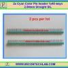2x Cyan Color Pin header 1x40 ways 2.54mm Straight SIL