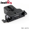 SMALLRIG® Baseplate with Dual 15mm Rod Clamp 1674